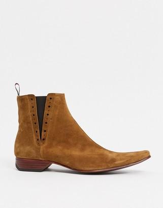 Jeffery West Pino chelsea boot in tan suede