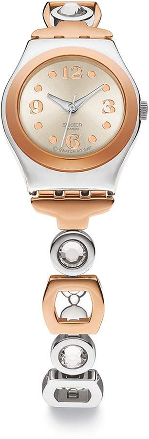 Swatch Ring Bling Crystal Two-Tone Stainless Steel Watch