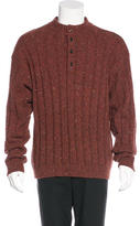 Luciano Barbera Tweed Wool Sweater