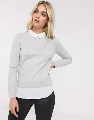 Ted Baker Zoilaa embellished collar jumper