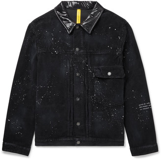 MONCLER GENIUS 7 Moncler Fragment Shell-Trimmed Paint-Splattered Cotton-Corduroy Jacket