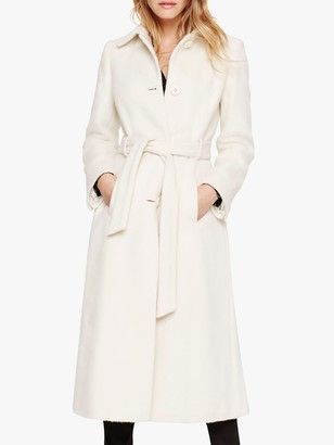 Damsel in a Dress Leora Belted Coat, Winter White