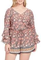Jessica Simpson Plus Kiera Floral Rompers