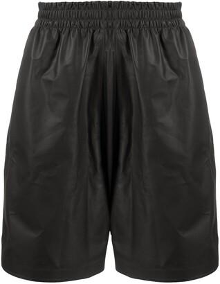 Bottega Veneta Track Leather Shorts