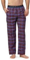 Tommy Hilfiger Navy And Red Checked Pyjama Bottoms