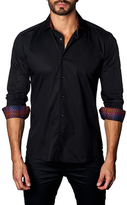 Jared Lang Tonal Printed Cotton Sportshirt