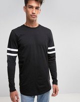 Jack and Jones Long Sleeve Top with Sports Stripe