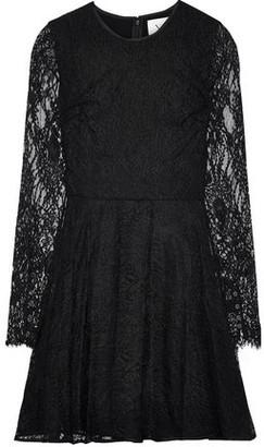 Novis The Honeysuckle Satin-trimmed Lace Mini Dress