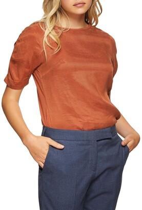 Oxford Claudette Woven Front T-Shirt
