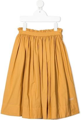 Molo Pleated Maxi Skirt