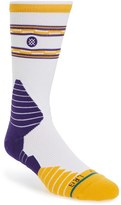 Stance Men's Nba On Court Lakers Core Crew Socks