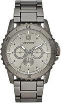 Claiborne Mens Gunmetal Strap Watch