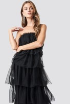 NA-KD Tulle Layered Midi Dress