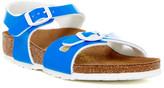Birkenstock Rio Neon Blue Sandal (Toddler & Little Kid)