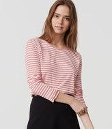 LOFT Petite Striped Shirttail Layering Tee