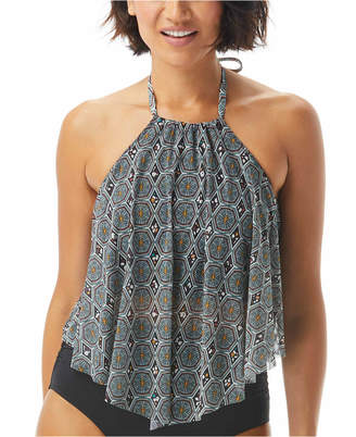 CoCo Reef Aura Printed Mesh Underwire Tankini Top Women Swimsuit