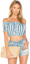 Capulet Elisa Crop Top in Blue. - size L (also in M,S,XS)