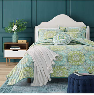 J Queen New York J by J Queen Avalon Green Twin Coverlet Bedding