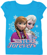 Freeze Frozen Anna & Elsa 'Sisters Forever' Turquoise Tee - Toddler