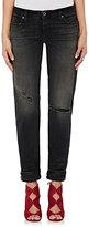 Baldwin Women's Straight-Leg Distressed Jeans-BLACK