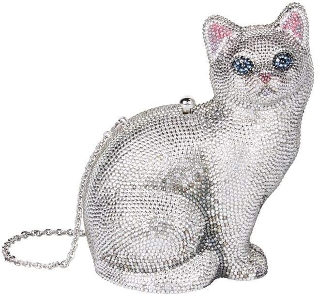 Judith Leiber Cat Minaudière Clutch