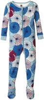 Tea Collection Parasoru Footed Pajamas (Baby) - Tourmaline - 12-18 Months Baby - 12-18 Months
