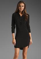 James Perse Easy Henley Shirt Dress