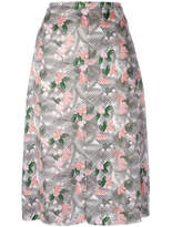 Julien David Floral Printed Midi Skirt - Pink - Size M