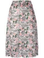 Julien David Floral Printed Midi Skirt - Pink - Size XS