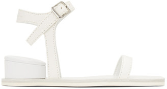 MM6 MAISON MARGIELA White Cushion Heel Sandals