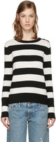 Rag & Bone White and Black Careen Stripes Pullover