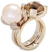 Lele Sadoughi Glass Pearl Reef Ring - Size N