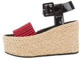 Celine Knit Ankle-Strap Wedges w/ Tags