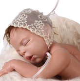 Cathery Baby Girls Newborn Lace Floral Hat Cap Beanie Bonnet Hats Photo Prop Photography