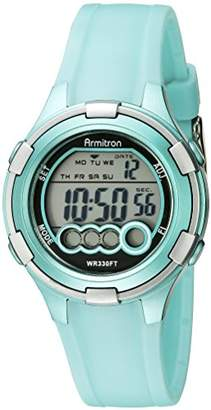 Armitron Sport Women's 45/7053LTG Digital Light Resin Strap Watch