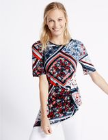 Marks and Spencer Modal Rich Printed Twist Front Tunic