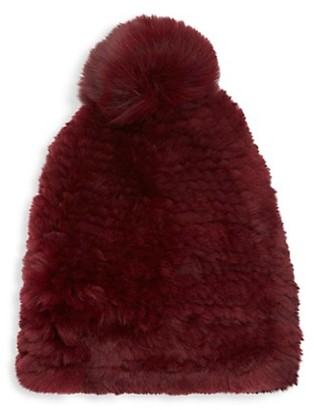 Saks Fifth Avenue Dyed Rabbit Fox Fur Beanie