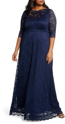 Kiyonna Leona Lace Evening Gown