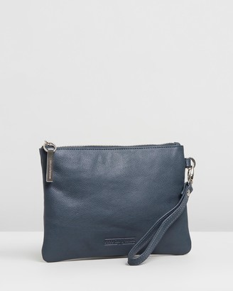 Stitch & Hide - Women's Blue Leather bags - Cassie Clutch - Size One Size at The Iconic