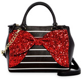 Betsey Johnson Fancy Bow Faux Leather Satchel