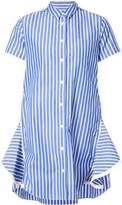 Sacai Striped Poplin Shirt Dress
