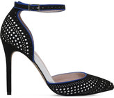 Carvela Alfie perforated suede court shoes