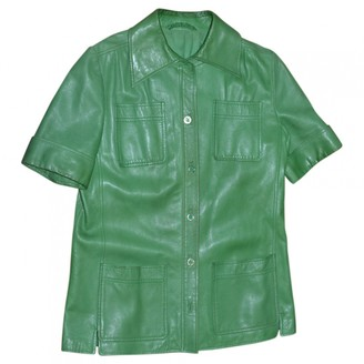 Hermes Green Leather Leather jackets