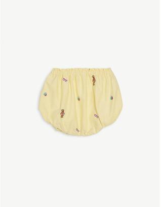 Ralph Lauren Oxford embroidered cotton bloomer shorts 3-24 months
