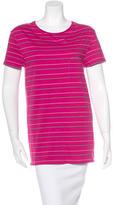 Saint Laurent Striped Short Sleeve Top