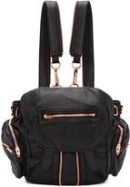 Alexander Wang Black and Rose Gold Mini Marti Backpack