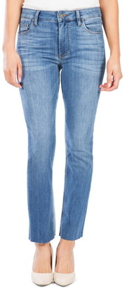 KUT from the Kloth Kelsey High Waist Raw Hem Ankle Flare Jeans