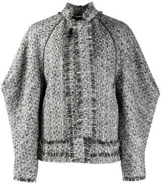 Alberta Ferretti Boxy Tweed Jacket