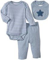 Bon Bebe Star & Stripes 3 Piece Pant Set (Baby)-Multicolor-3-6 Months