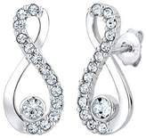 Elli Infinity Women's Stud Earrings 925 Sterling Silver and White Crystal 0308811414 Brilliant Cut Diamonds